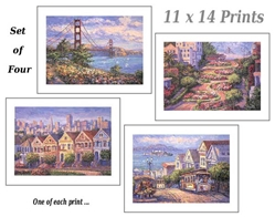 MARIE  - San Francisco Prints  (Set-of-Four)