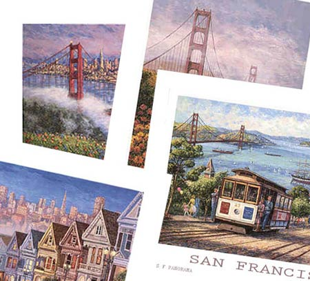 ANNA CHRASTA POSTERS - San Francisco Collection