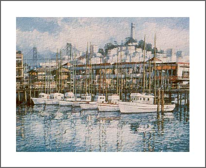 ANNA CHRASTA  EDITIONS  Handsigned-&-Numbered FISHERMANS WHARF
