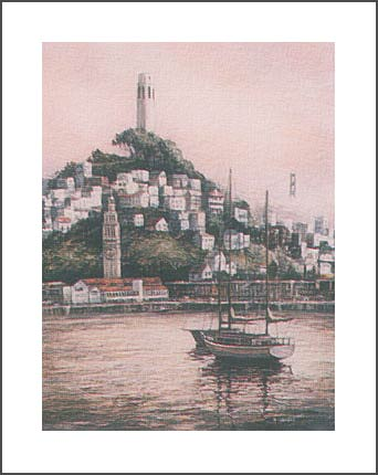 ANNA CHRASTA  EDITIONS  Handsigned-&-Numbered COIT-TOWER